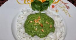 Reisnudeln Avocadopesto - vegan & glutenfrei
