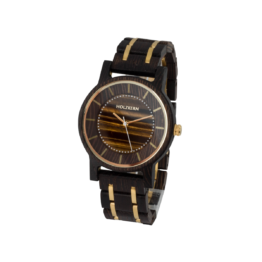 Christoph (Wenge/Tigerauge) - Holzkern Uhr