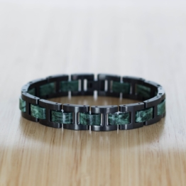 Forte (Marmor/Schwarz) - Holzkern Uhr