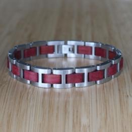 Harmonie (Amaranth/Silber) - Holzkern Uhr