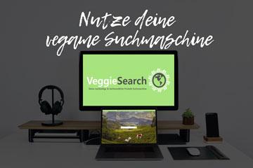 Nutze unsere vegane Suchmaschine - VeggieSearch