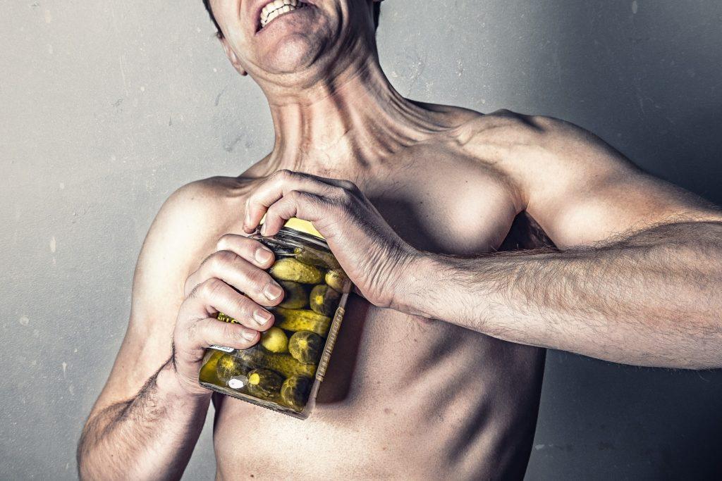 Schwache Männer durch vegane Ernährung