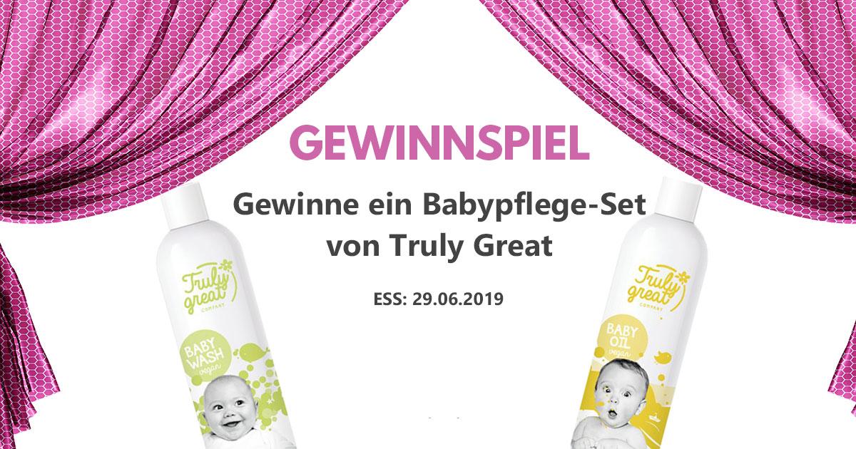 Gewinnspiel: Truly Great Babypflege-Set