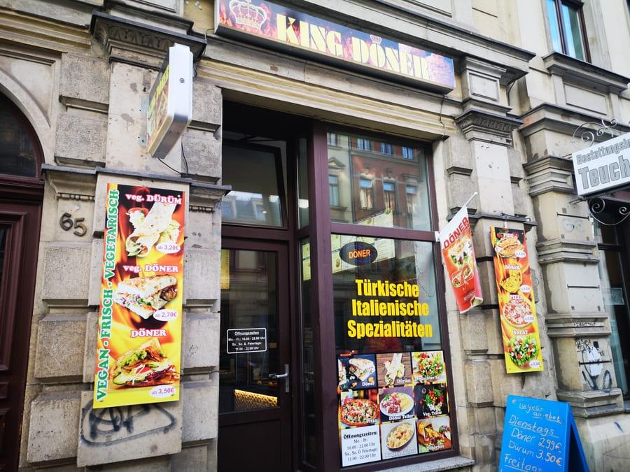 Vegane Döner im King Döner in Dresden