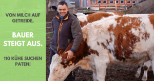 Bauer steigt aus – von Milch auf Getreide – 110 Kühe suchen Paten