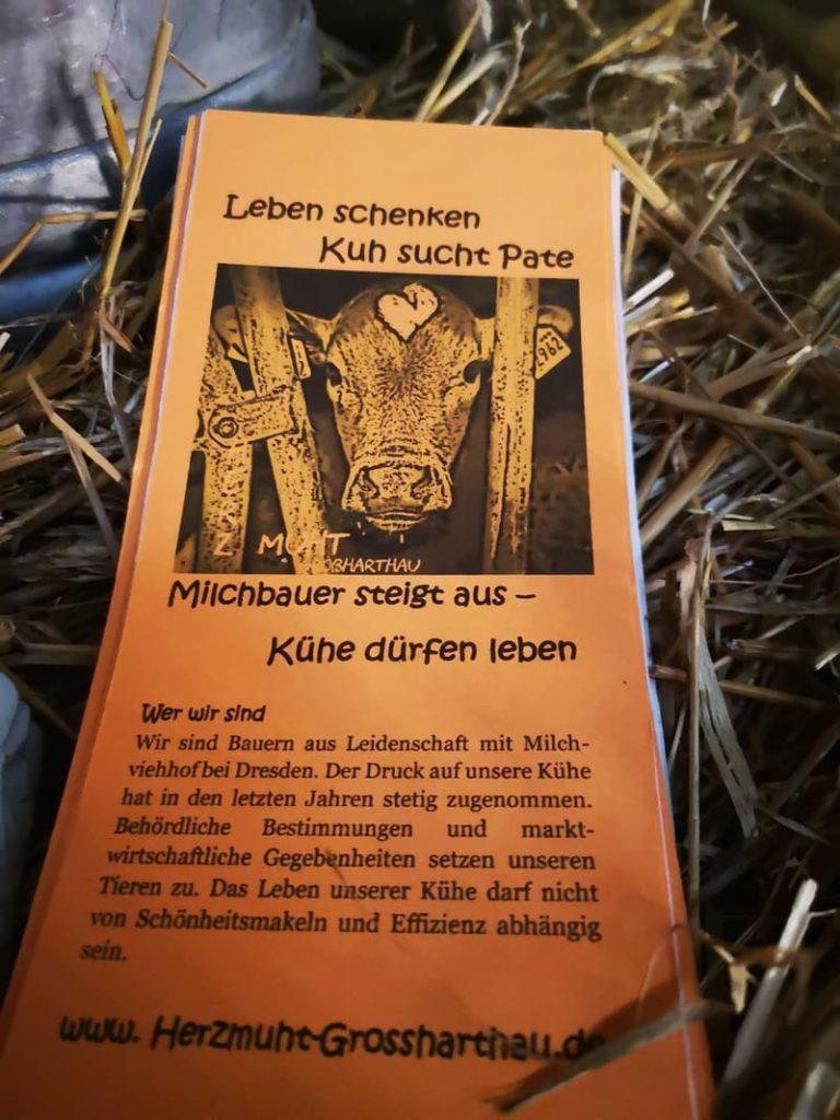 Flyer für Patenschaft – HerzMuht in Großhartau