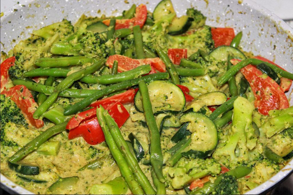Thai-Gemüsepfanne - vegan & glutenfrei