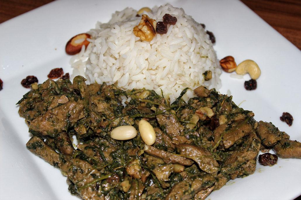 Falsches Lamm – Marokkanisches Soja-Geschnetzeltes mit Rosinen in Kokosmilch