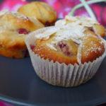 Vegane Kirsch-Marzipan-Muffins mit Mandeln