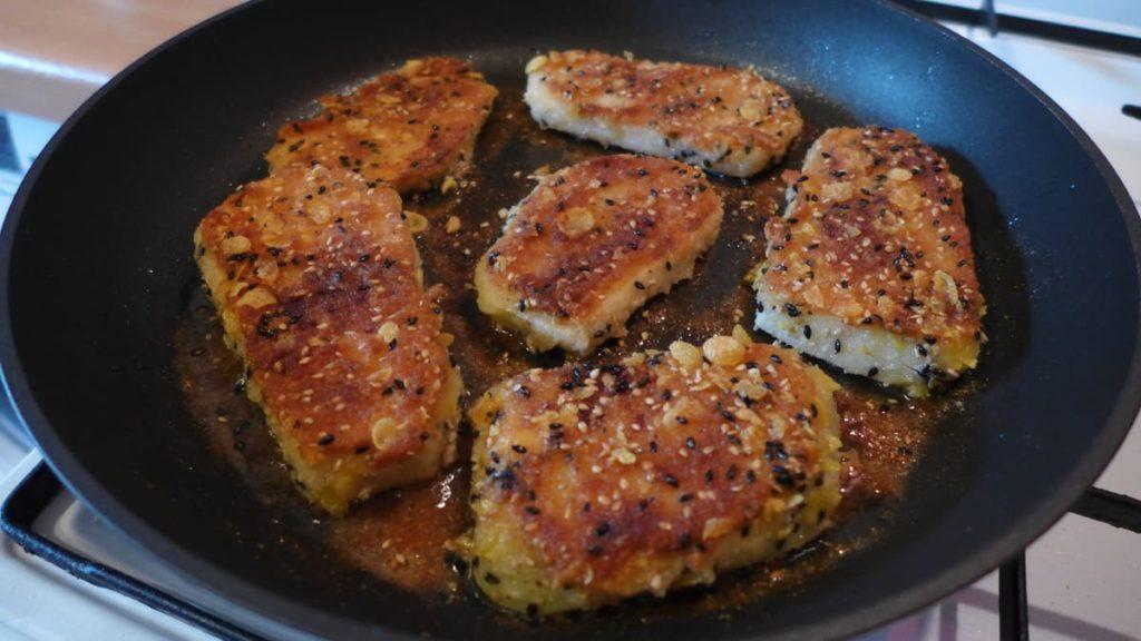 Vegane Kohlrabischnitzel – gebraten