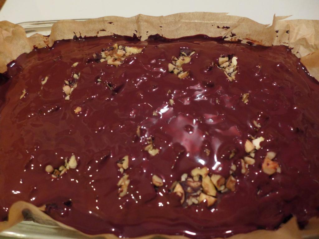 Vegane Brownies mit Schokoglasur