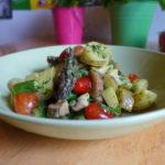 Veganer Frühlingssalat mit Spargel