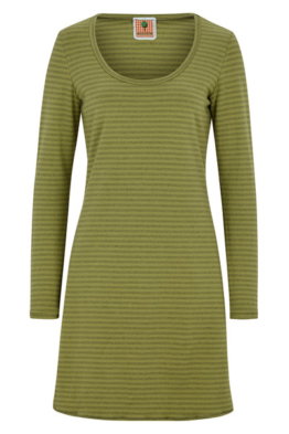 BIO Kleid - grün - gestreift