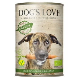 Dog´´s Love Hunde-Nassfutter Bio Gartenernte Vegan 18x400g