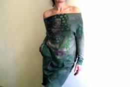 Handbemalte Baumwolle Kleid vegan[GreenFLOvvear]