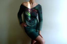 Handbemalte Baumwolle Kleidvegan