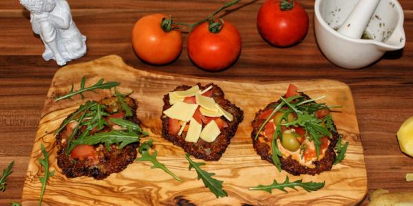 Kartoffelpuffer-Pizza – vegan, gluten- und zuckerfrei