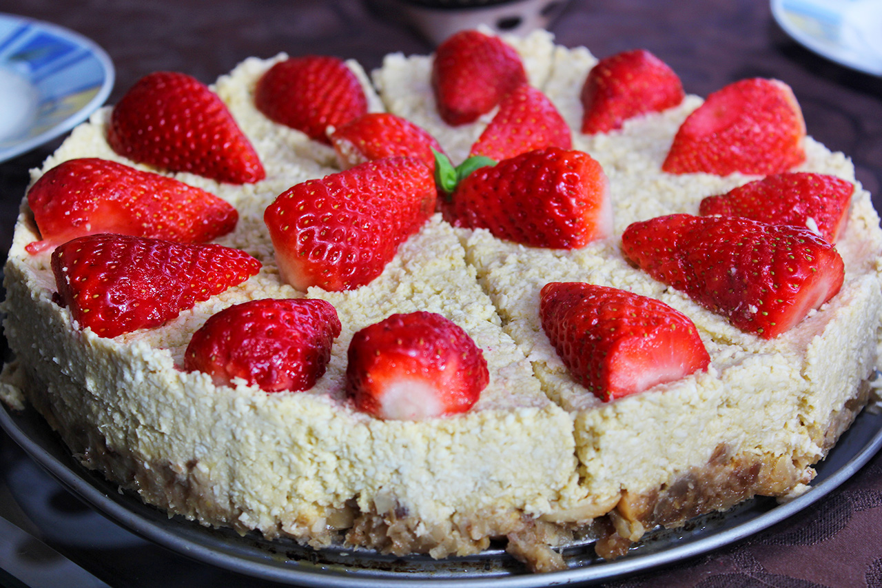 Sommerliche Kokostorte Im Raffaello Stil Vegan Glutenfrei