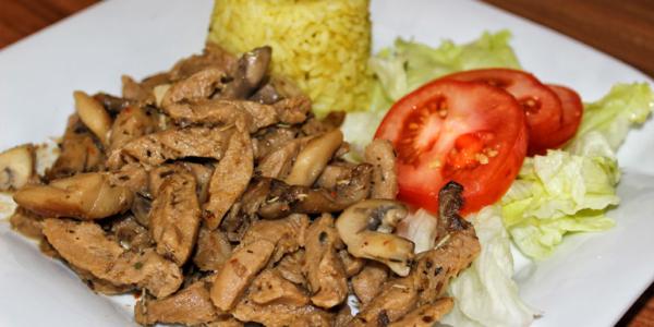 Pilzgeschnetzeltes mit Sojaschnetzel – vegan, glutenfrei & zuckerfrei