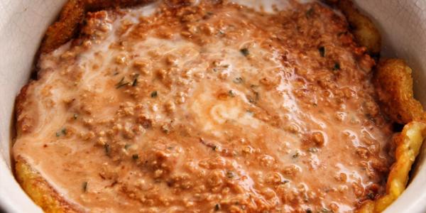 Füllung für Kartoffelpufferauflauf – vegan