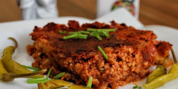 Mexikanischer Kartoffelpuffer-Chili-Auflauf /-Lasagne – vegan & glutenfrei
