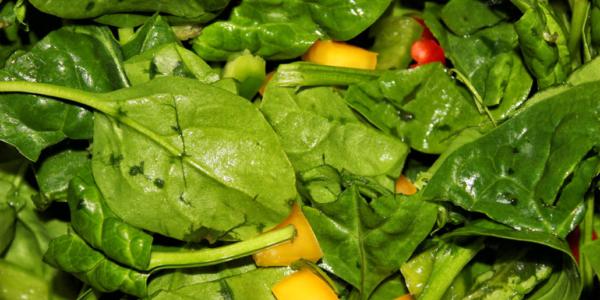 Spinat Salat – glutenfrei, vegan & zuckerfrei