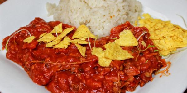Vegane glutenfreie Tortilla Pfanne