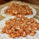 Veganes Mett, Gehacktes, Hackepeter aus Reiswaffeln