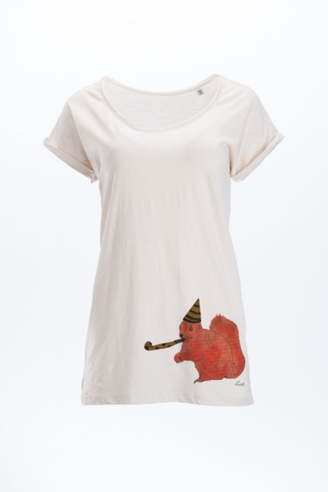 Eichhörnchen Party T-Shirt Frauen