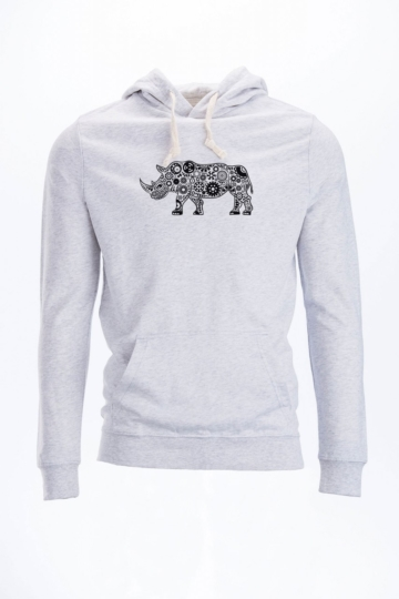Rhino Hoodie Dünn Fleece Pullover