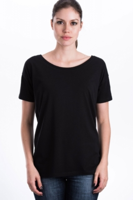Wide Cut Bio Holz T-Shirt Frauen