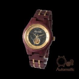Alice (Amaranth/Marmor) - Holzkern Uhr