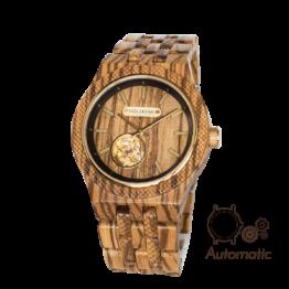 Aristoteles (Zebrano/Zebrano) - Holzkern Uhr