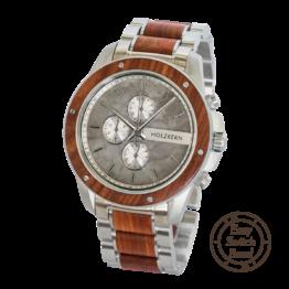 Artus (Padouk/Marmor) - Holzkern Uhr