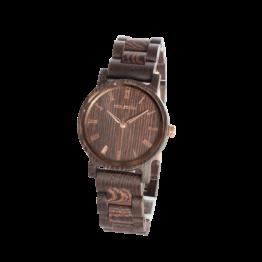 Begierde (Wenge/Wenge) - Holzkern Uhr