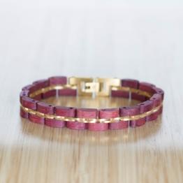 Belcanto (Amaranth/Gold) - Holzkern Uhr