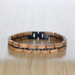 Belcanto (Apfel/Schwarz) - Holzkern Uhr
