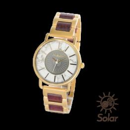 Bishop (Amaranth/Marmor) - Holzkern Uhr