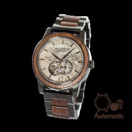 Chicago (Walnuss/Marmor) - Holzkern Uhr