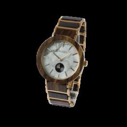 Country (Leadwood/Marmor) - Holzkern Uhr