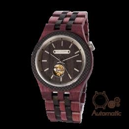 Demokrit (Amaranth/Leadwood) - Holzkern Uhr