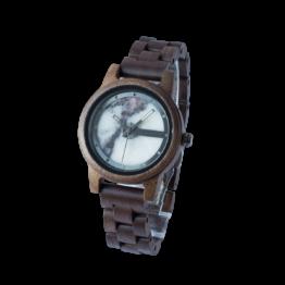 Denali (Walnuss/Marmor) - Holzkern Uhr