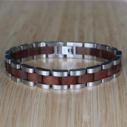 Dreiklang (Walnuss/Silber) - Holzkern Uhr