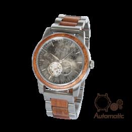 Dubai (Mahagoni/Marmor) - Holzkern Uhr