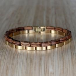 Duett (Zebrano/Gold) - Holzkern Uhr