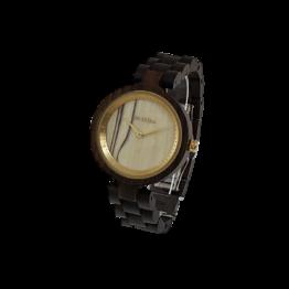 Edelweiss (Leadwood/Esche) - Holzkern Uhr
