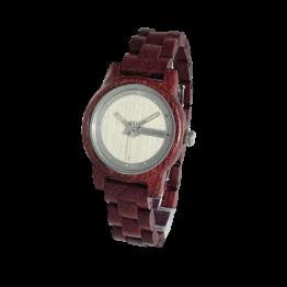 Eiger (Amaranth/Birke) - Holzkern Uhr