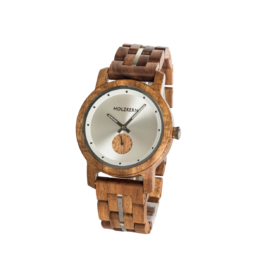 EmpireState (Koa/Lichtsilber) - Holzkern Uhr