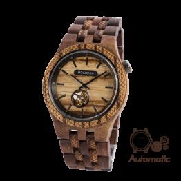 Epikur (Walnuss/Zebrano) - Holzkern Uhr