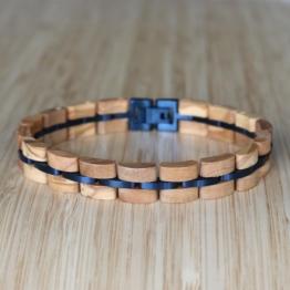 Fantasia (Olivenholz/Blau) - Holzkern Uhr